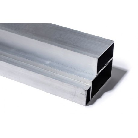 TUBE RECTANGLE 100 X 50 X 2 ALUMINIUM 6060