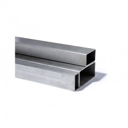 TUBE RECTANGLE INOX 304L GRAIN 220