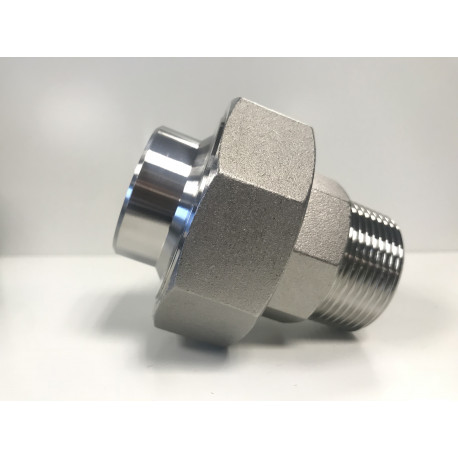 RACCORD UNION LISSE/MALE 40 X 49 316L